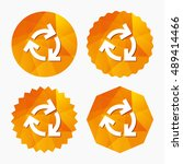 recycling sign icon. reuse or...   Shutterstock .eps vector #489414466
