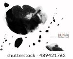 background with ink stains.... | Shutterstock .eps vector #489421762
