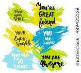 i like your smile. you are... | Shutterstock .eps vector #489425536