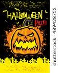halloweens poster banner    Shutterstock .eps vector #489428752