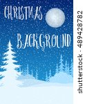 christmas holiday background ... | Shutterstock .eps vector #489428782