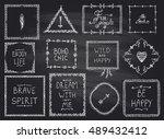chalkboard fashion hand drawn... | Shutterstock .eps vector #489432412