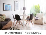 interior of beautiful modern... | Shutterstock . vector #489432982