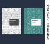 notebook template a5. abstract... | Shutterstock .eps vector #489435016