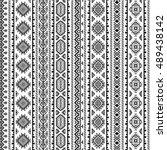 ethnic seamless monochrome... | Shutterstock .eps vector #489438142