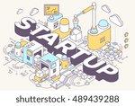 vector illustration of word... | Shutterstock .eps vector #489439288