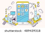 vector illustration of phone...