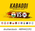 creative concept of india vs... | Shutterstock .eps vector #489442192