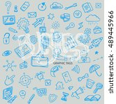 business hand drawn background  ... | Shutterstock .eps vector #489445966