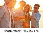 group of friends hanging out...   Shutterstock . vector #489452176