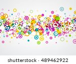 white background with colour... | Shutterstock .eps vector #489462922