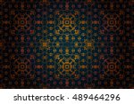 pattern in rococo style ... | Shutterstock .eps vector #489464296