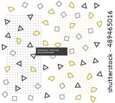 cute small geometrical shapes... | Shutterstock .eps vector #489465016