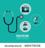 kit healthcare medical service... | Shutterstock .eps vector #489478558