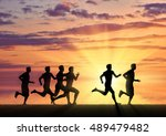 running sports. competition... | Shutterstock . vector #489479482