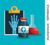 set medical services. clipboard ...   Shutterstock .eps vector #489480016