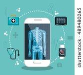health app medical digital...   Shutterstock .eps vector #489480265