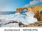 Storm The Azure Window In Gozo...