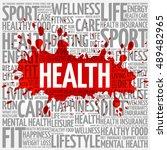 health word cloud background ... | Shutterstock . vector #489482965