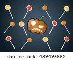 halloween lollipops | Shutterstock .eps vector #489496882