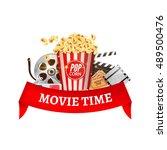 cinema movie vector poster... | Shutterstock .eps vector #489500476