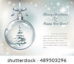 greeting card with vector... | Shutterstock .eps vector #489503296