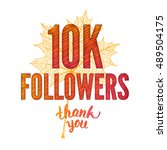 thank you 10k followers card.... | Shutterstock . vector #489504175