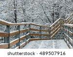 winter in perito moreno glacier ... | Shutterstock . vector #489507916