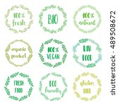 icons and labels for natural... | Shutterstock .eps vector #489508672