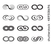 infinity symbol icons vector... | Shutterstock .eps vector #489508696