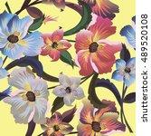 flower  vector | Shutterstock .eps vector #489520108