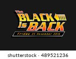 black friday sale advertisement ... | Shutterstock .eps vector #489521236