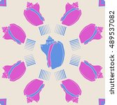 sea  pattern  shells  halftone .   Shutterstock . vector #489537082