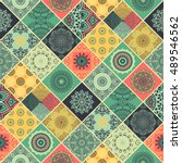 seamless pattern. vintage... | Shutterstock .eps vector #489546562