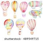 air balloons collection.... | Shutterstock . vector #489549715