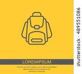 web line icon. knapsack | Shutterstock .eps vector #489551086