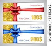 gift card templates with silk... | Shutterstock .eps vector #489551662