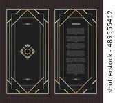 vector geometric cards in art... | Shutterstock .eps vector #489555412