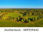 autumn park landscape. aerial... | Shutterstock . vector #489559642