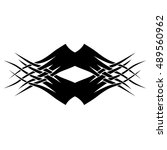 tattoo design. stencil. pattern.... | Shutterstock .eps vector #489560962