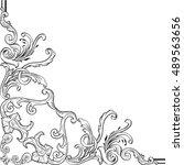 the baroque fine art ornate... | Shutterstock .eps vector #489563656
