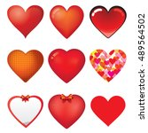 heart set | Shutterstock .eps vector #489564502
