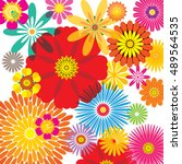 floral pattern | Shutterstock .eps vector #489564535