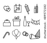 set of icons for the holidays | Shutterstock .eps vector #489572182