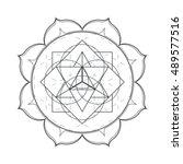 vector contour monochrome... | Shutterstock .eps vector #489577516
