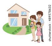 family pose | Shutterstock .eps vector #489578632