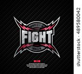 modern professional fight club... | Shutterstock .eps vector #489580042