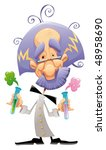 mad scientist. funny vector and ... | Shutterstock .eps vector #48958690