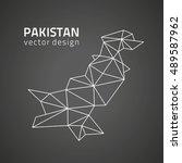 pakistan contour black vector... | Shutterstock .eps vector #489587962