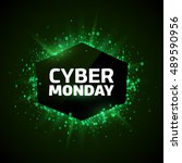 cyber monday promotion banner... | Shutterstock .eps vector #489590956